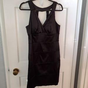 Bisou Bisou Women's Black Satin Dress